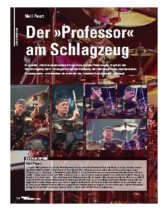 Der Professor am Schlagzeug