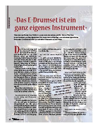 Das E-Drumset ist ein ganz eigenes Instrument