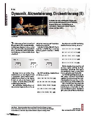 Dynamik, Akzentuierung, Orchestrierung (II)