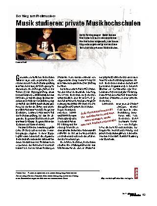 Musik studieren: private Musikhochschulen