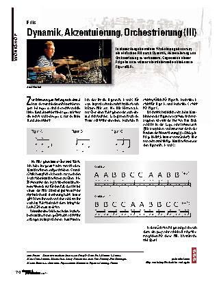 Dynamik, Akzentuierung, Orchestrierung (III)