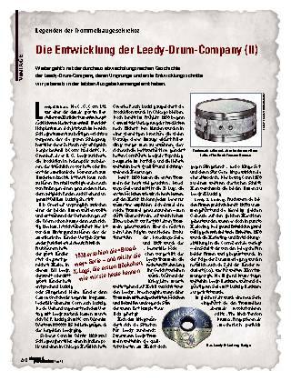Die Entwicklung der Leedy-Drum-Company (II)
