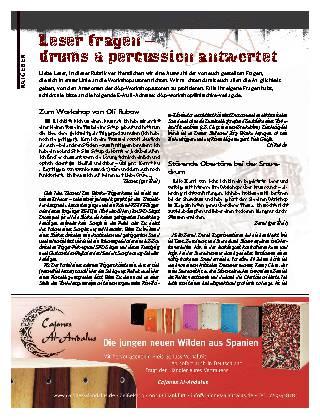 Leser fragen - drums & percussion antwortet