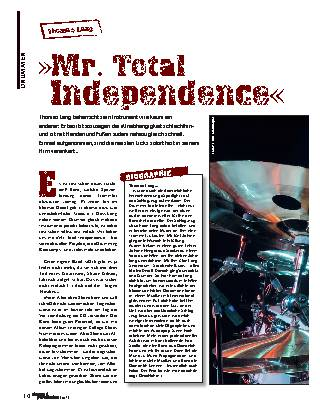 »Mr. Total Independence«