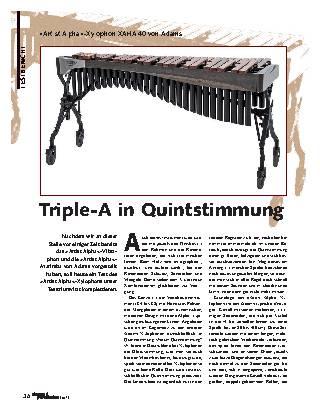 Triple-A in Quintstimmung