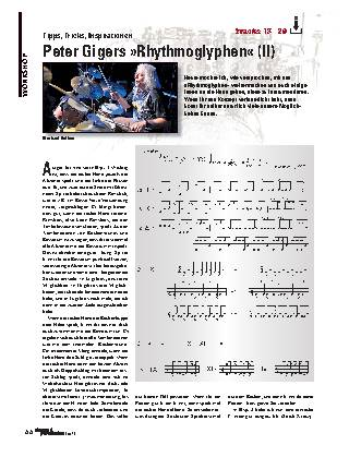 Peter Gigers »Rhythmoglyphen« (II)