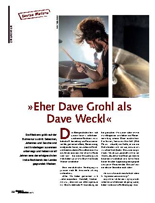 »Eher Dave Grohl als Dave Weckl«