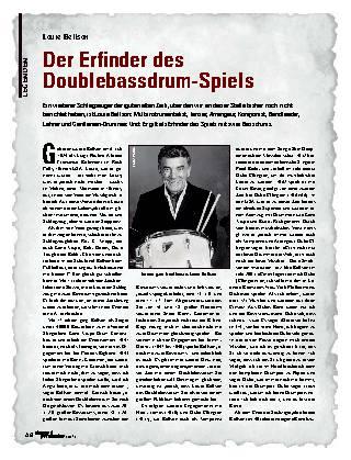 Der Erfinder des Doublebassdrum-Spiels