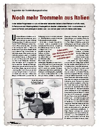 Noch mehr Trommeln aus Italien
