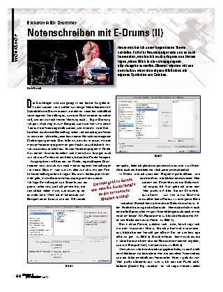 Notenschreiben mit E-Drums (II)