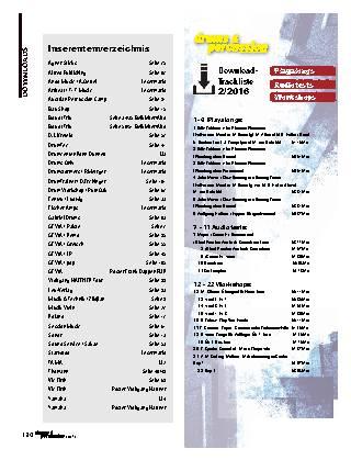 Inserentenverzeichnis/Trackliste