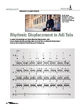 Rhythmic Displacement in Adi Tala