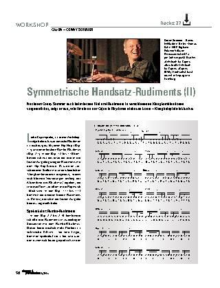 Symmetrische Handsatz-Rudiments (II)