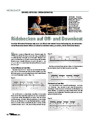 Ridebecken auf Off- und Downbeat