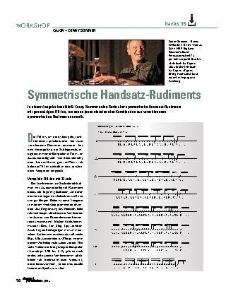 Symmetrische Handsatz-Rudiments