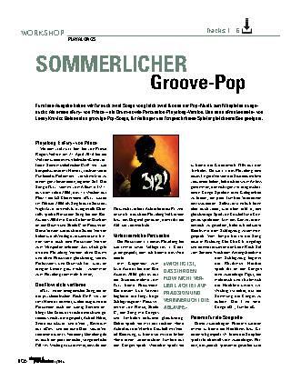 Sommerlicher Groove-Pop