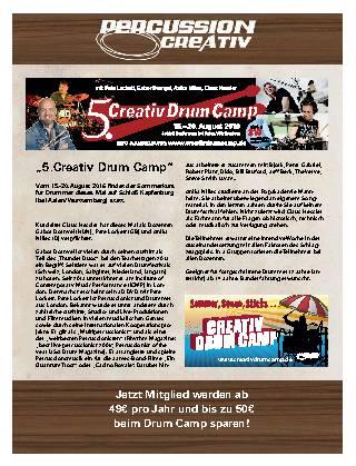 """""""5.Creativ Drum Camp"""""""