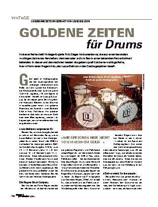 GOLDENE ZEITEN für Drums