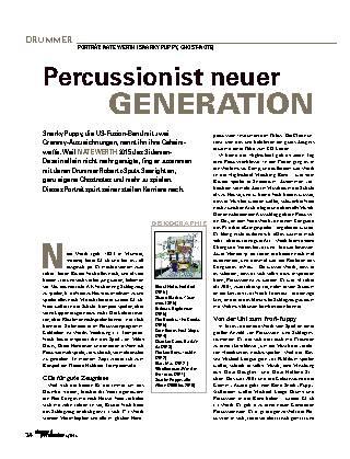 Percussionist neuer GENERATION