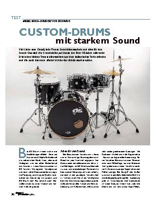 CUSTOM-DRUMS mit starkem Sound