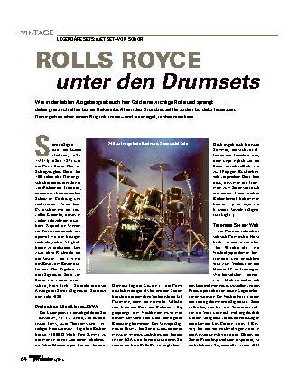 ROLLS ROYCE unter den Drumsets