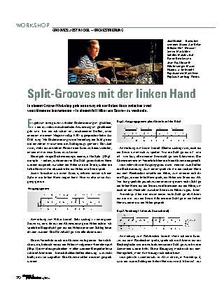 Split-Grooves mit der linken Hand