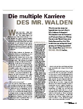 Die multiple Karriere des MR. WALDEN