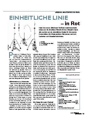 EINHEITLICHE LINIE – in Rot