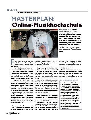 MASTERPLAN: Online-Musikhochschule
