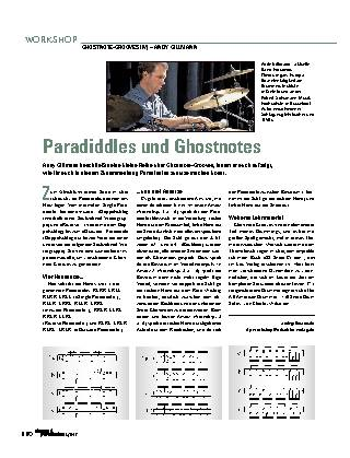 Paradiddles und Ghostnotes