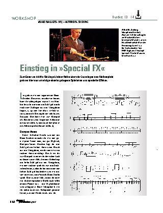 Einstieg in »Special FX«