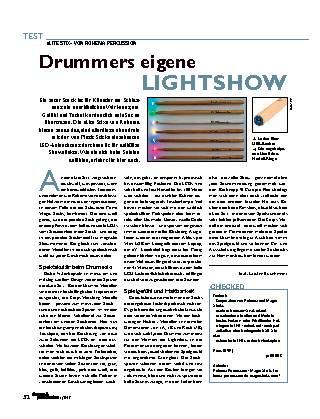 Drummers eigene Lightshow