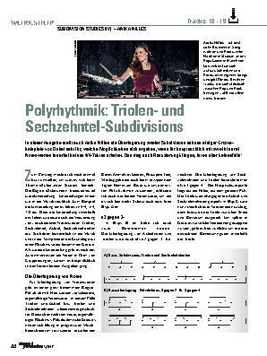 Polyrhythmik: Triolen- und Sechzehntel-Subdivisions