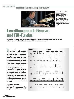 Leseübungen als Groove-  und Fill-Fundus