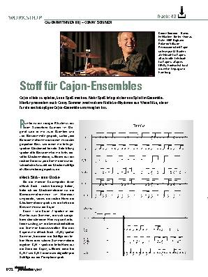 Stoff für Cajon-Ensembles