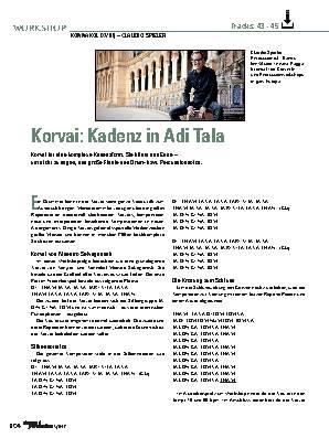 Korvai: Kadenz in Adi Tala