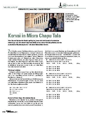 Korvai in Misra Chapu Tala