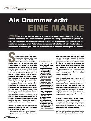Als Drummer echt  EINE MARKE