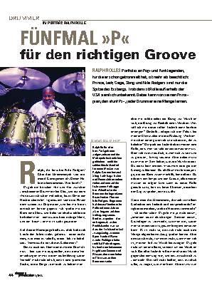 FÜNFMAL »P« für den richtigen Groove