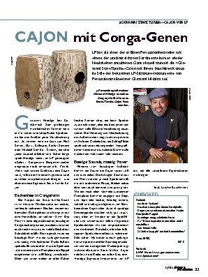 CAJON mit Conga-Genen