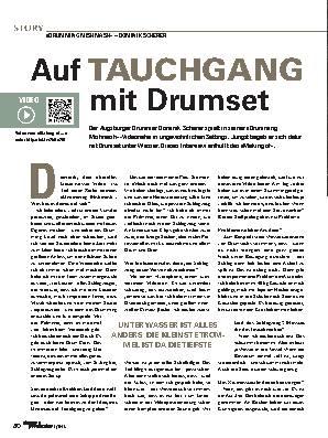 Auf TAUCHGANG mit Drumset