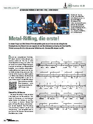 Metal-Riffing, die erste!
