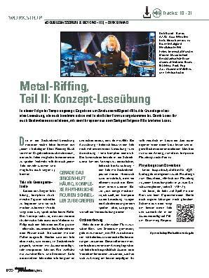 Metal-Riffing, Teil II: Konzept-Leseübung