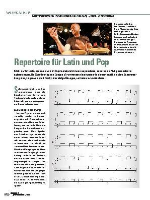 Repertoire für Latin und Pop