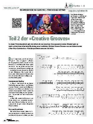 Teil 2 der »Creative Grooves«