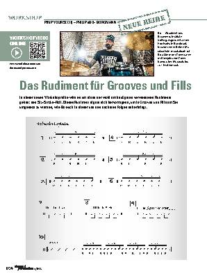 Das Rudiment für Grooves und Fills