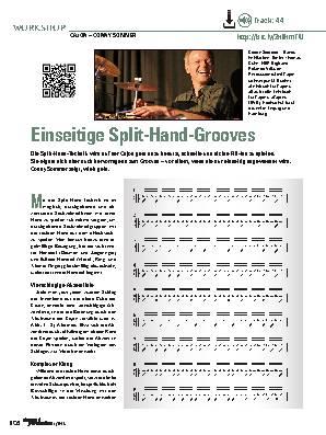 Einseitige Split-Hand-Grooves