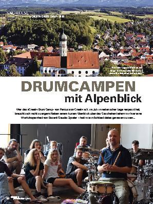 DRUMCAMPEN mit Alpenblick