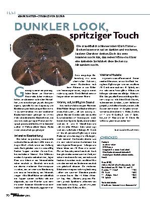 DUNKLER LOOK, spritziger Touch