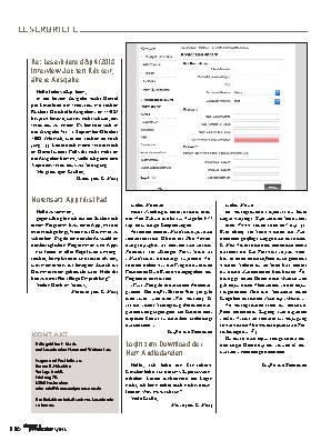 Gewinnspiel und Leserbriefe